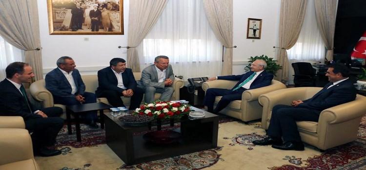 CHP Genel Başkanı Kılıçdaroğlu'nu ziyaret